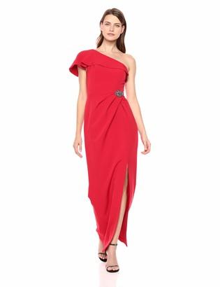 Alex Evenings Women's Long Off The Shoulder Dress (Petite and Regular)