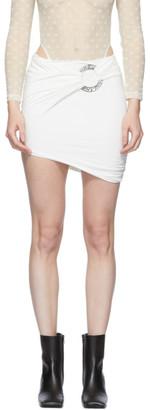 Misbhv White Hagen Ring Skirt