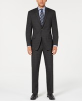 Andrew Marc Men's Modern-Fit Stretch Gray/Blue Windowpane Suit