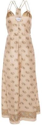 Nanushka Sunshine Cutout Printed Silk-twill Wide-leg Jumpsuit