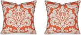 Miles Talbott Collection S/2 Trelawny 19.5x19.5 Pillows, Coral