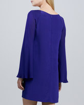 Nicole Miller Artelier Bell-Sleeve Relaxed Dress