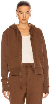 Nili Lotan Callie Zip Up Hoodie in Brown | FWRD