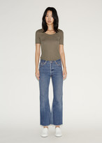 RE/DONE Leandra High Rise Flare Crop Jeans
