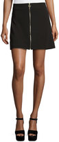 5Twelve Zip-Front Mini Skirt, Black
