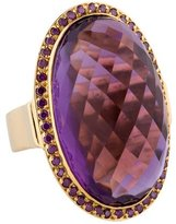 Moritz Glik 18K Amethyst and Diamond Ring