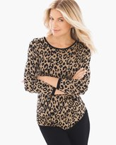 Chico's Animal Jacquard Mindy Pullover