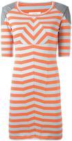 MM6 MAISON MARGIELA shoulder detail striped dress - women - Cotton/Spandex/Elastane/Viscose/Polyurethane - S
