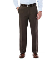 Haggar Work To Weekend Khakis - Straight Fit, Flat Front, Hidden Expandable Waistband