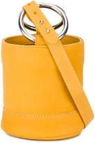 Simon Miller Orange Bonsai 15 Mini leather bucket bag