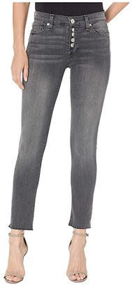 Hudson Jeans Nico Mid-Rise Crop Skinny Jeans w/ Exposed Button Fly in Downtown (Downtown) Women's Jeans