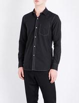 Ann Demeulemeester Topstitch-detail regular-fit cotton shirt