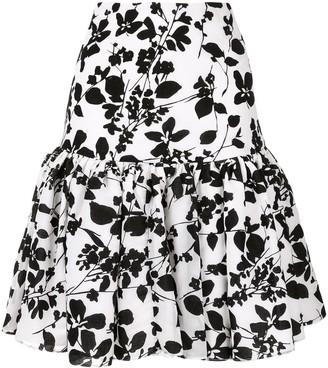 Bambah Seville velvet mini skirt