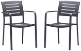 Zander Stackable Outdoor Patio Dining Chairs (Set of 2)
