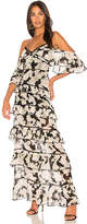 Nicholas Tiered Maxi Dress in Black. - size 0 (also in 2,4,6)