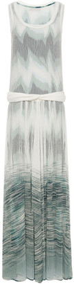 Missoni Twist-front Degrade Open-knit Maxi Dress