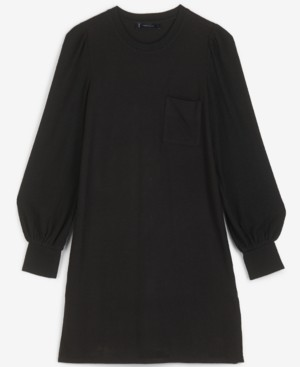 Lucky Brand Cozy Knit Ribbed-Contrast Dress
