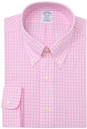 Brooks Brothers Gingham Print Long Sleeve Regent Fit Shirt