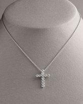 Diamond Cross Pendant Necklace, Large