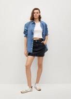 Thumbnail for your product : MANGO Pocket denim miniskirt