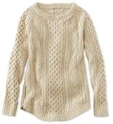 L.L. Bean Signature Cotton Fisherman Tunic Sweater