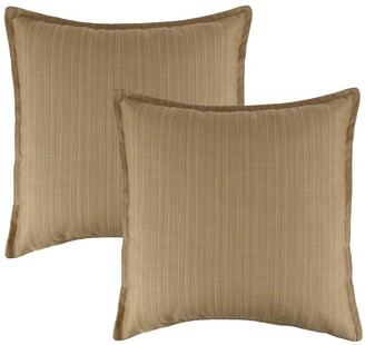 Austin Horn Classics Sunbrella Dupione Bamboo 20-inch Outdoor Throw Pillow