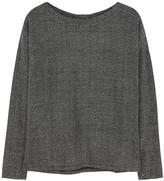 Paige Celeste black metallic-knit jumper