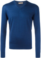 Cruciani V neck jumper - men - Silk/Cashmere - 48