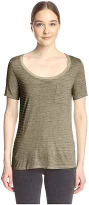 Three Dots Women's Pocket Tee