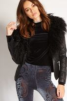 Forever 21 Faux Fur-Trimmed Jacket