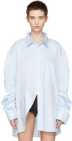 Vetements Blue Comme Des Garçons Edition Packshot Shirt