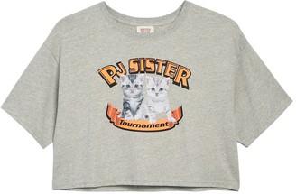 Paul & Joe Sister Cat Super Bowl Graphic Crop T-Shirt