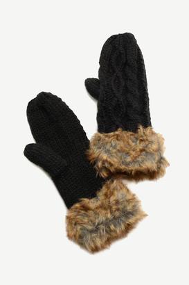 Ardene Faux Fur-Trimmed Mittens