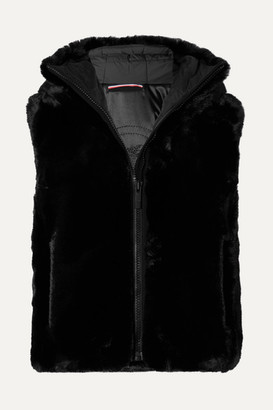 Fusalp Pegase Hooded Faux Fur Vest - Black