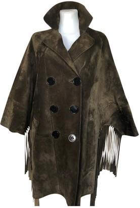 Burberry Khaki Suede Coats