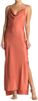 BCBGeneration Cowl Tie Back Evening Dress