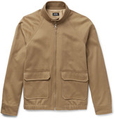 A.p.c. - Cotton And Linen-blend Twill Blouson Jacket