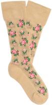 Gucci Floral-intarsia cotton-blend socks