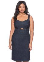 ELOQUII Plus Size Denim Cutout Dress