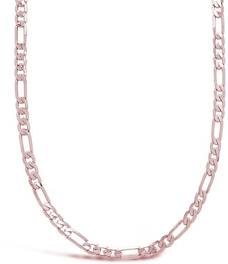 Sterling Forever 14K Rose Gold Plated Figaro Chain Necklace