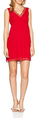 Naf Naf Women's LARISTA R1 Knee-Length A-Line Sleeveless Party Dress,6 (Manufacturer Size: 36)