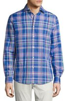 Ralph Lauren Plaid Woven Shirt, Bright Blue