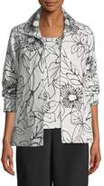 Caroline Rose Frivolous Floral A-line Topper Jacket, Plus Size