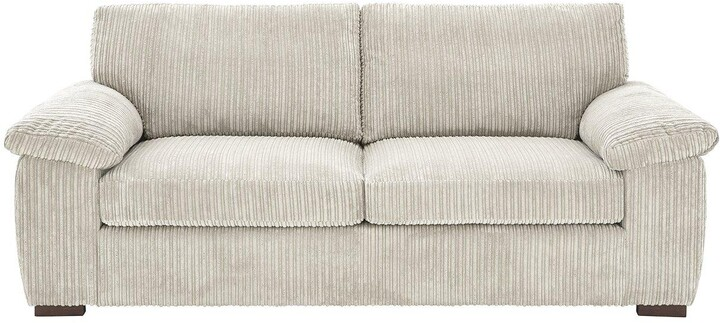 Thumbnail for your product : Very Amalfi Standard Back 3 Seater Fabric Sofa - Silver