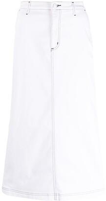 Carhartt Work In Progress High-Waist Cotton Denim Skirt