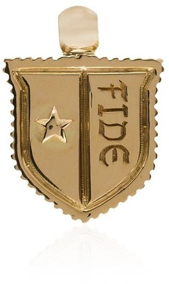 Foundrae 18kt Yellow Gold Fide Star Shield Charm