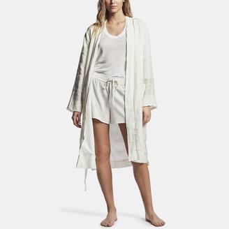 James Perse Linen Striped Blanket Robe