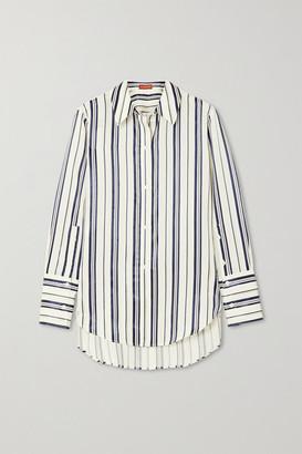 Altuzarra Giselda Striped Lyocell-blend Shirt - Gray