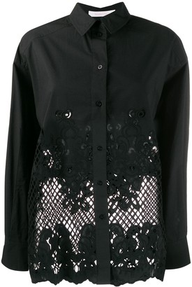 See by Chloe Lace-Embroidered Shirt
