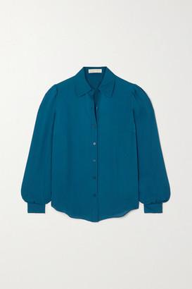 MICHAEL Michael Kors Silk-chiffon Shirt - Blue